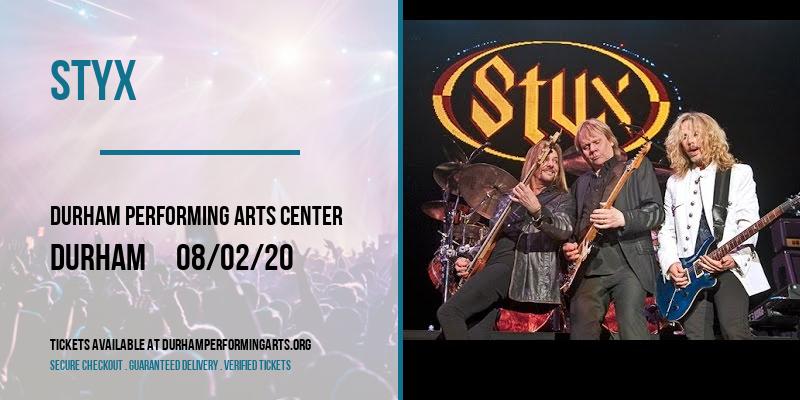 Styx at Durham Performing Arts Center