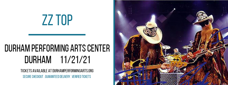 ZZ Top at Durham Performing Arts Center