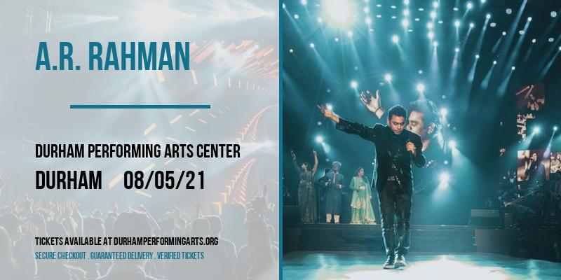 A.R. Rahman [CANCELLED] at Durham Performing Arts Center