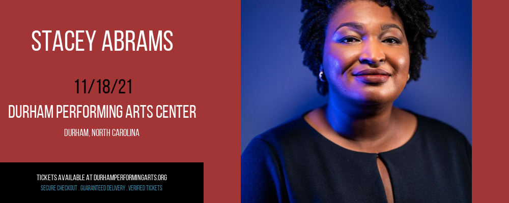 Stacey Abrams at Durham Performing Arts Center
